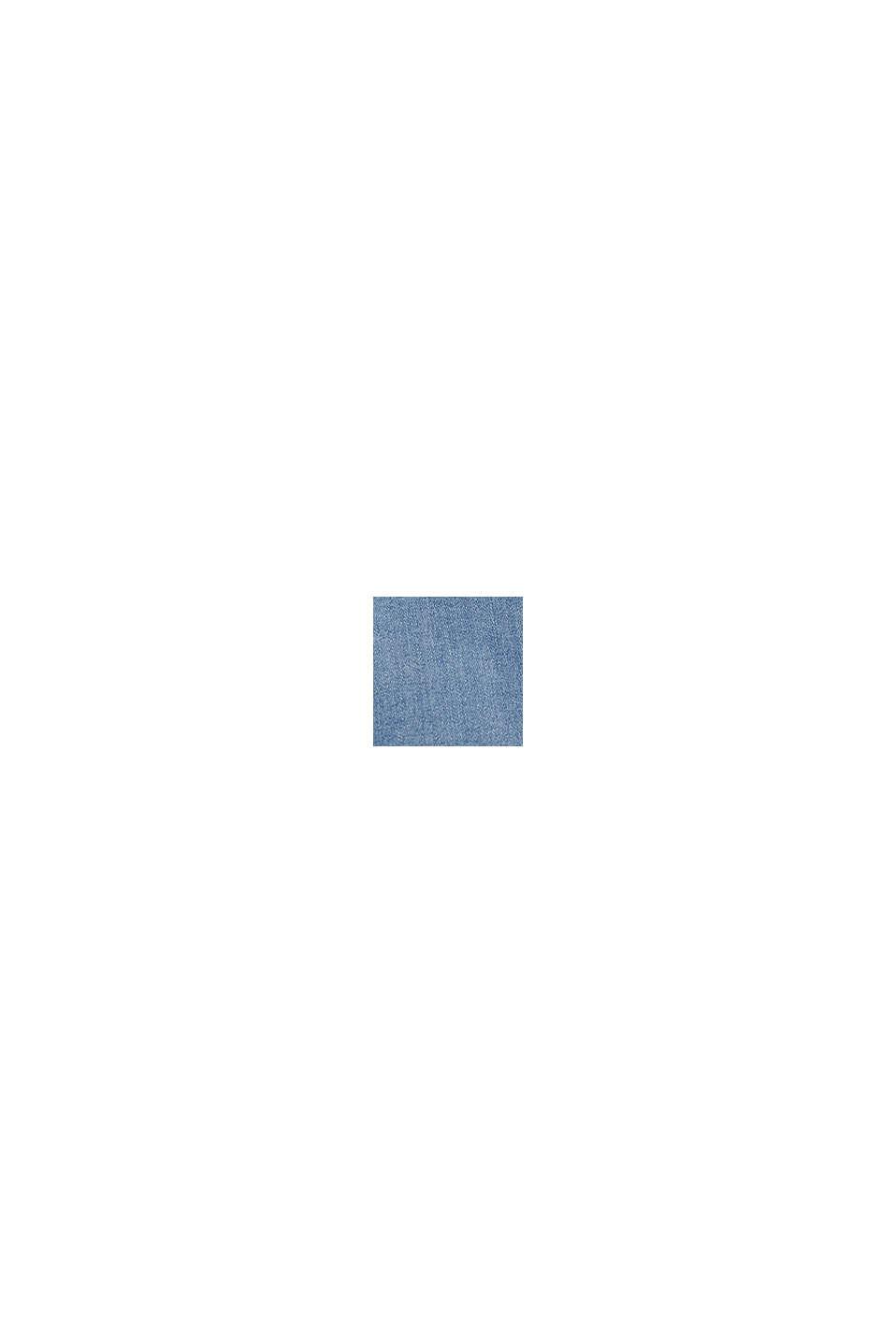 Stumpede jeans med slidsede kanter, BLUE MEDIUM WASHED, swatch