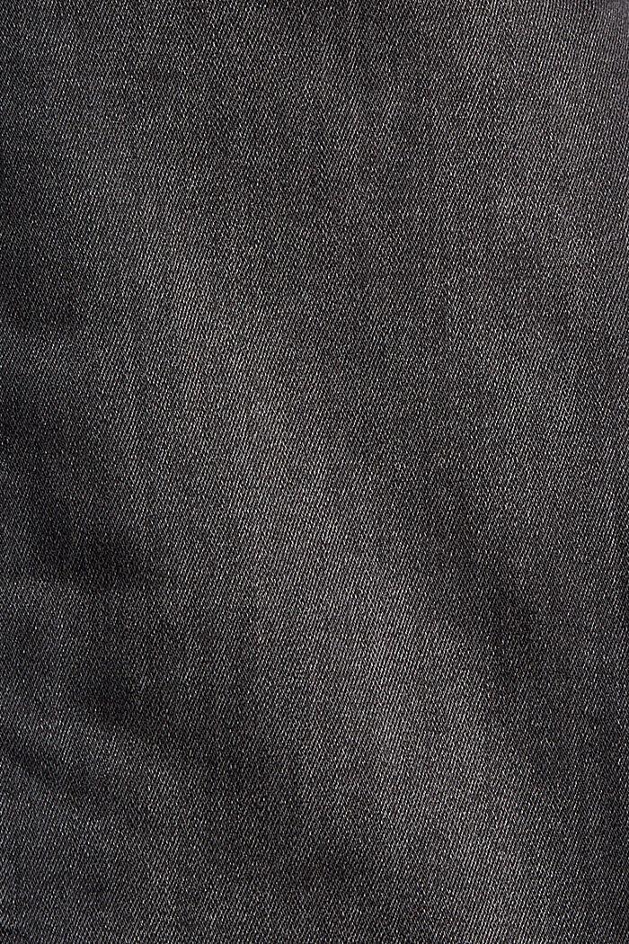 Cropped Jeans mit geschlitztem Saum, BLACK DARK WASHED, detail image number 4