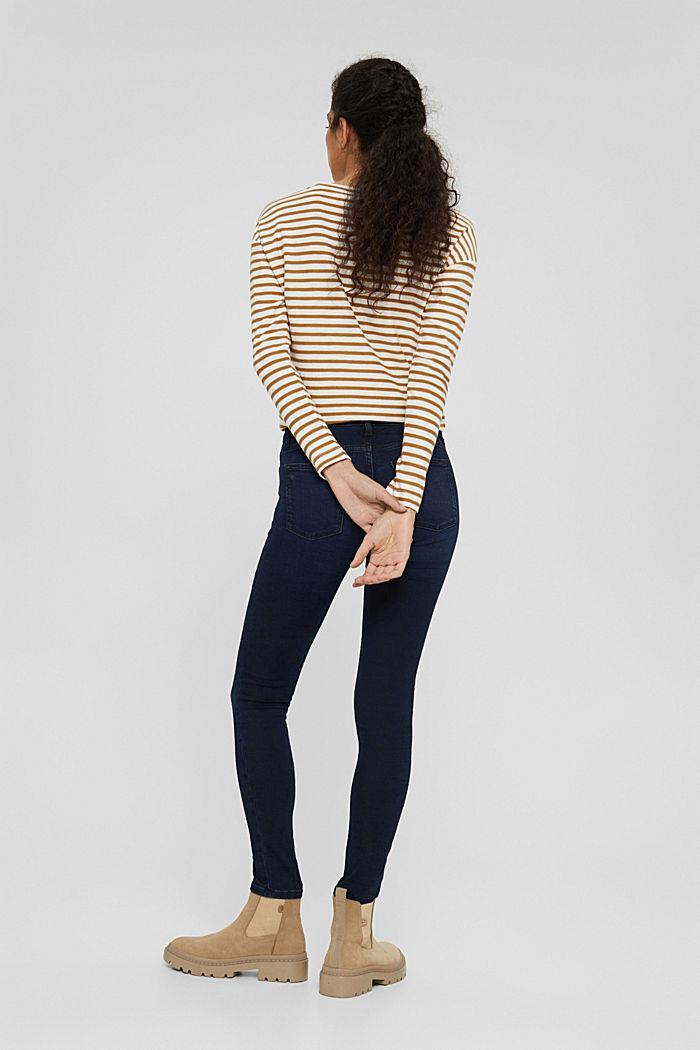 Stretch-Jeans aus Bio-Baumwoll-Mix, BLUE BLACK, detail image number 3