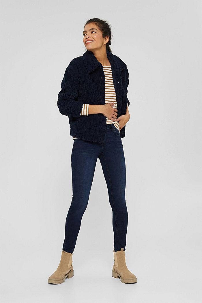Stretch-Jeans aus Bio-Baumwoll-Mix, BLUE BLACK, detail image number 1