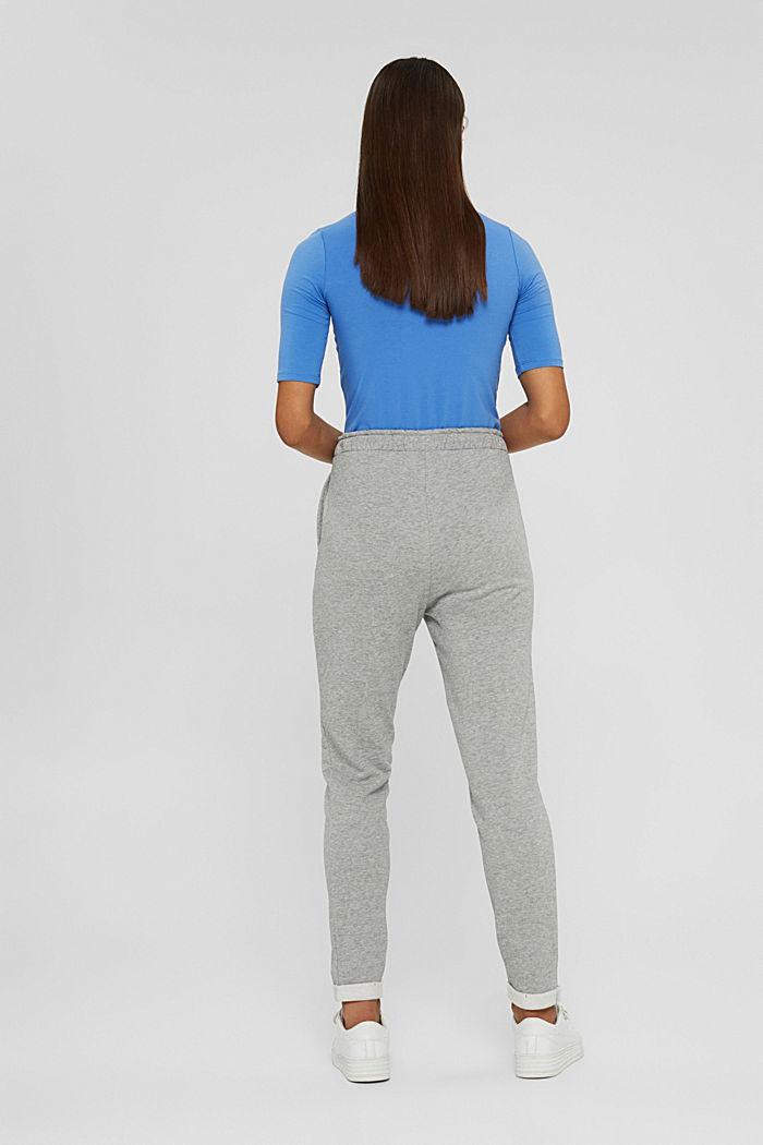 Smalle broek met hoge taille, van sweatstof, MEDIUM GREY, detail image number 3