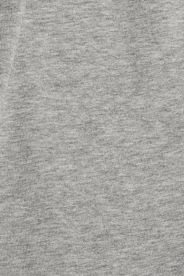 Smalle broek met hoge taille, van sweatstof, MEDIUM GREY, detail image number 4
