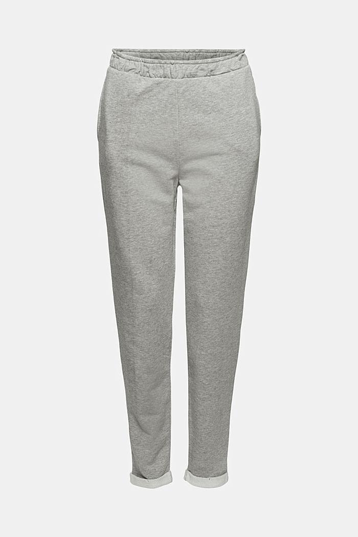 Pantalon taille haute étroit en molleton
