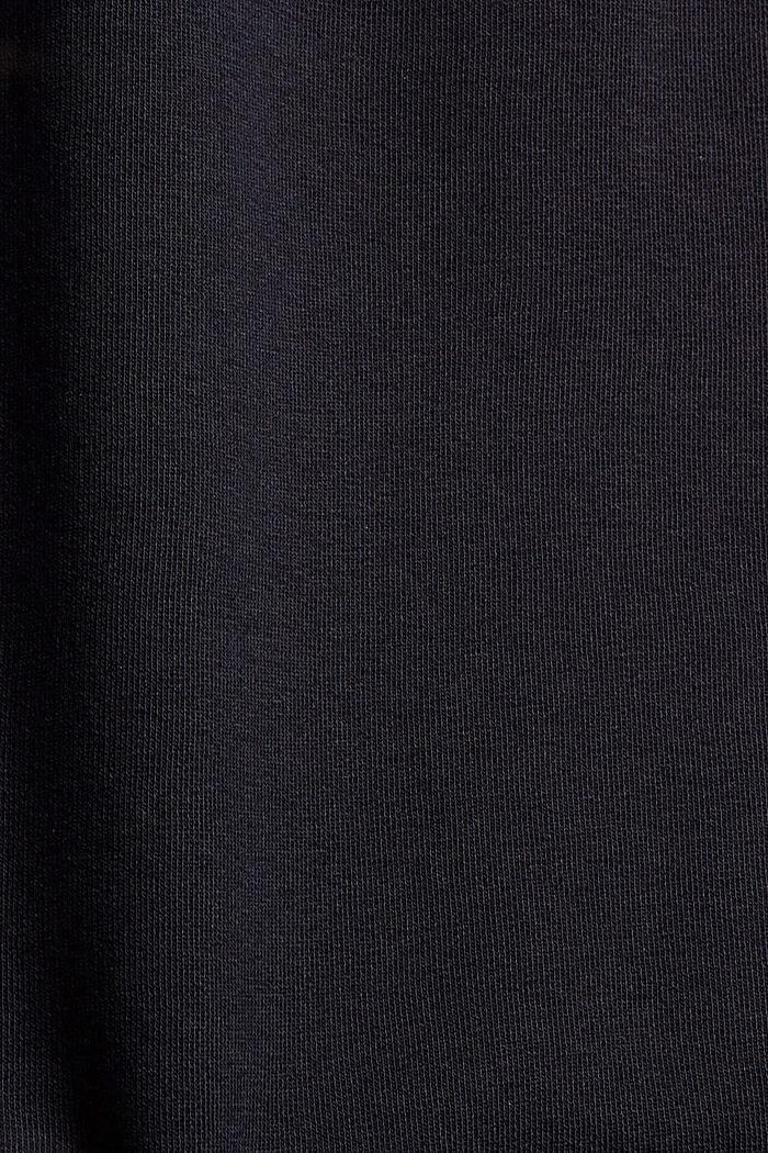 Jupe longueur midi en molleton, coton bio mélangé, BLACK, detail image number 4