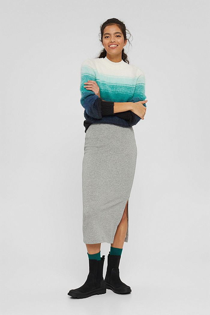 Skirts knitted, MEDIUM GREY, detail image number 0