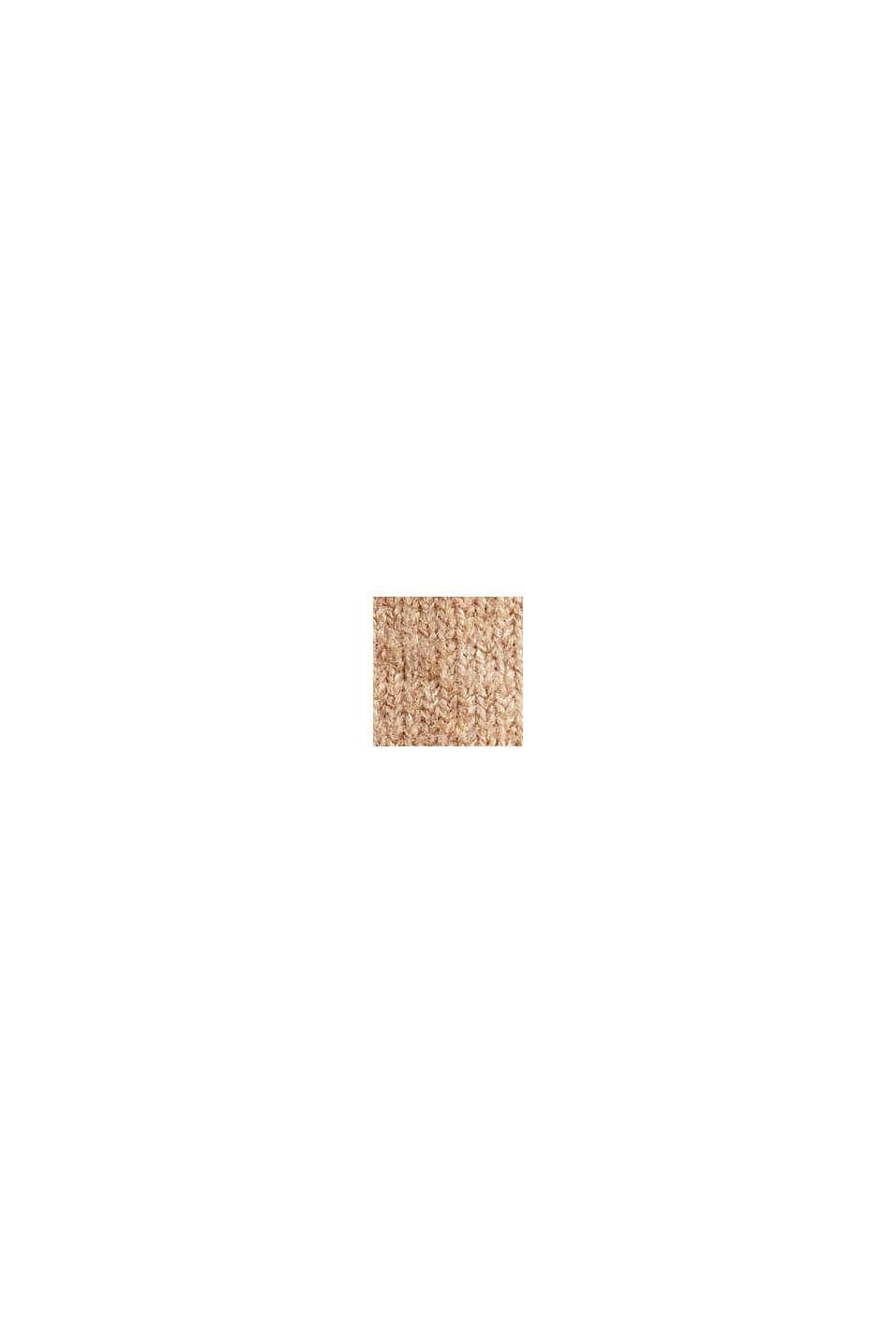 Med uld: striknederdel i midilængde, BEIGE, swatch