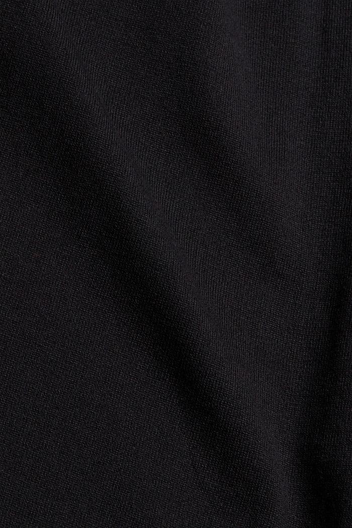 2-in-1: Pullover und Midikleid, Bio-Baumwoll-Mix, BLACK, detail image number 4