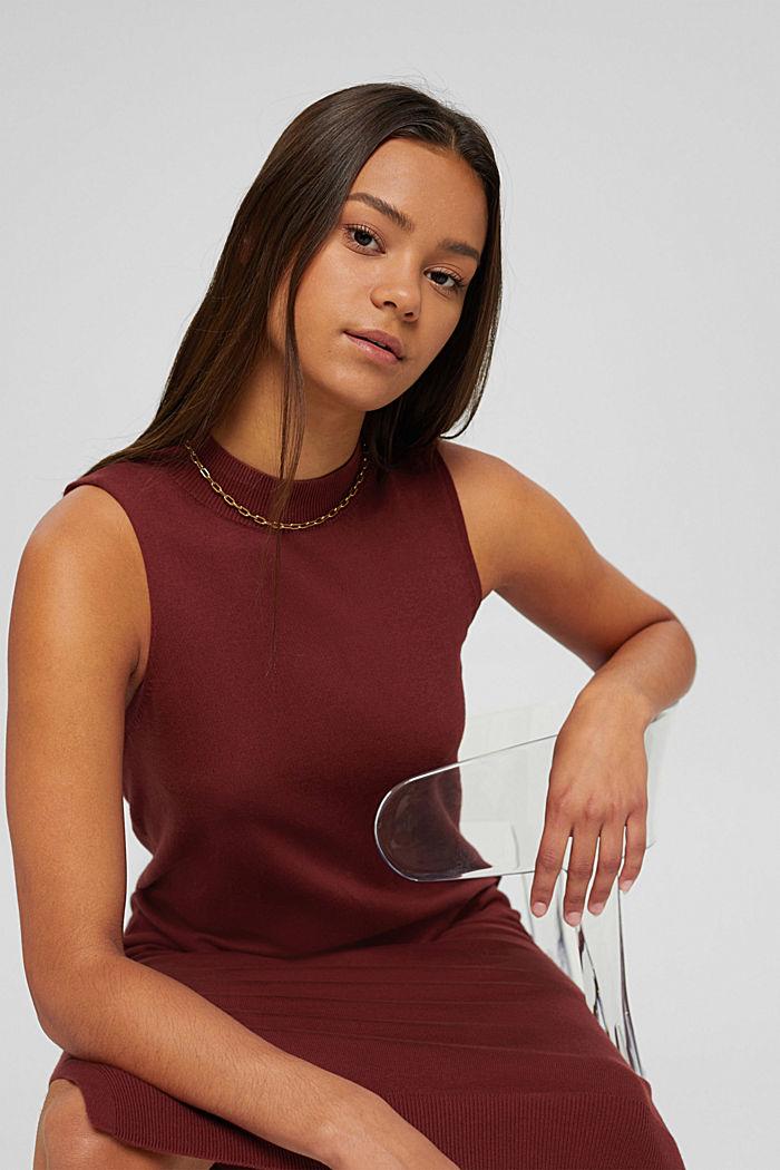 2-en-1: jersey y vestido midi confeccionado en una mezcla de algodón ecológico