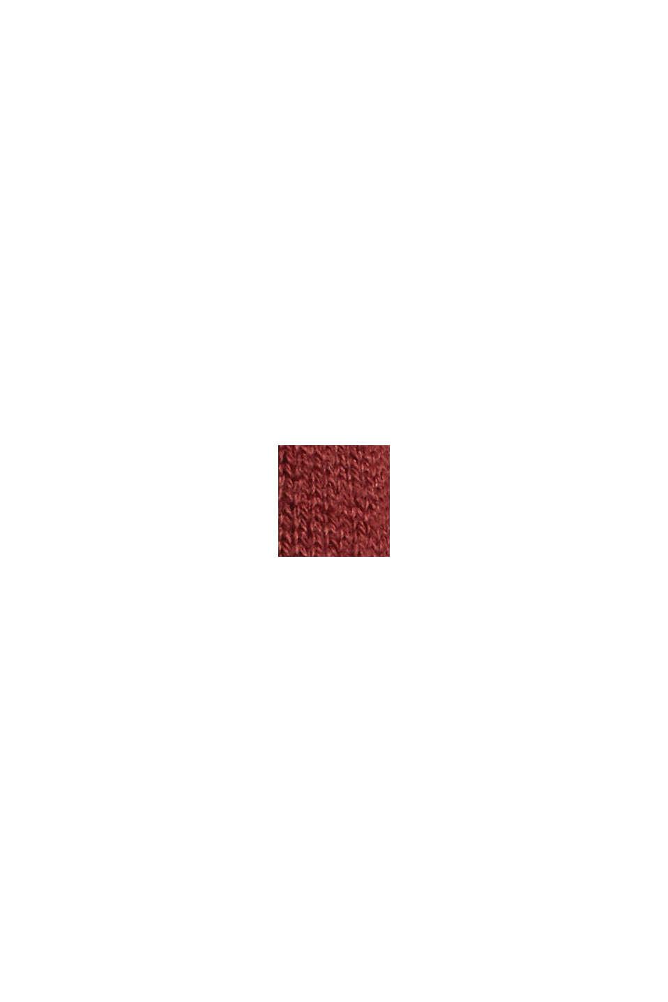 2-en-1: jersey y vestido midi confeccionado en una mezcla de algodón ecológico, GARNET RED, swatch