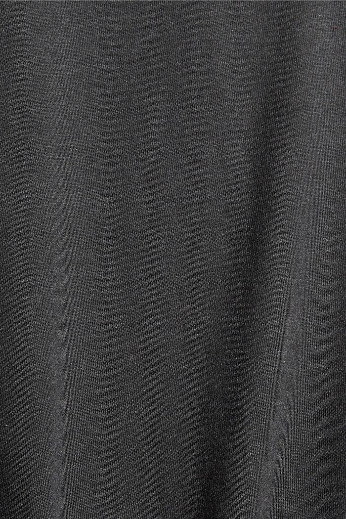 Jerseykleid in Midilänge, Bio-Baumwoll-Mix, ANTHRACITE, detail image number 4