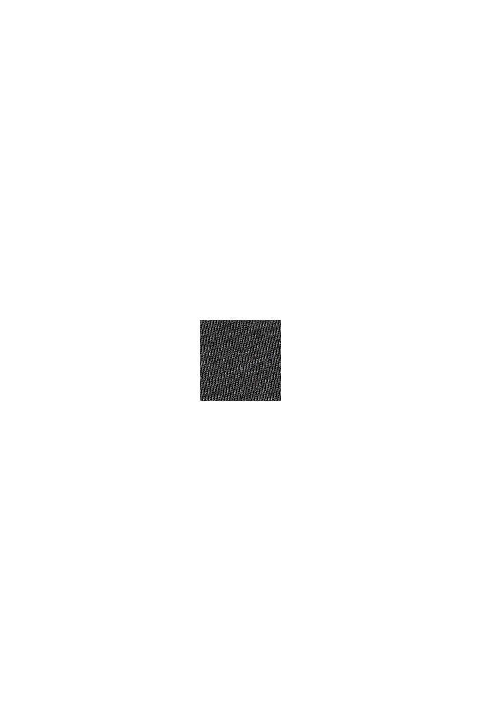 Jerseykleid in Midilänge, Bio-Baumwoll-Mix, ANTHRACITE, swatch