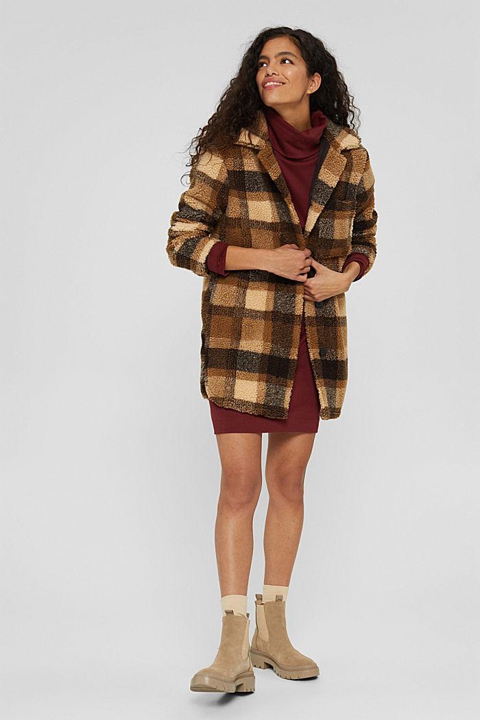 Robe en jersey à col roulé, coton biologique, GARNET RED, detail image number 1