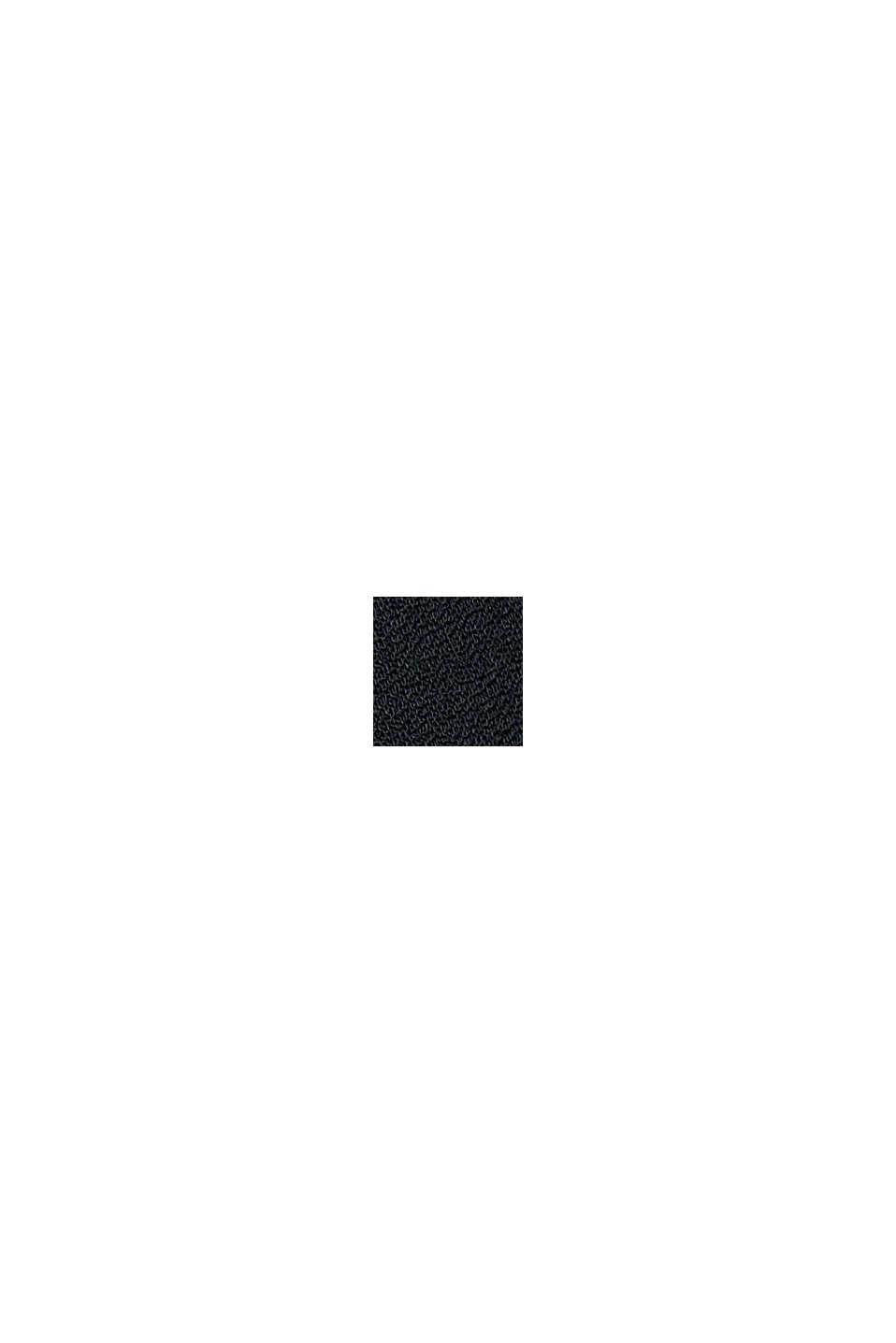 Volantkleid aus LENZING™ ECOVERO™, BLACK, swatch