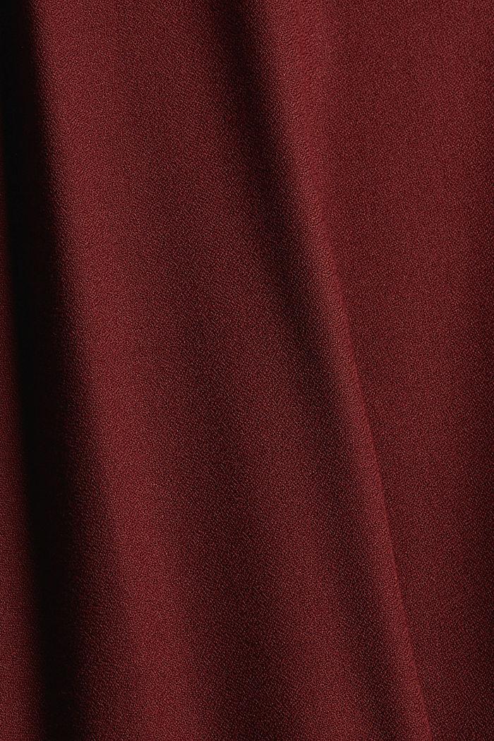 Volantkleid aus LENZING™ ECOVERO™, GARNET RED, detail image number 4