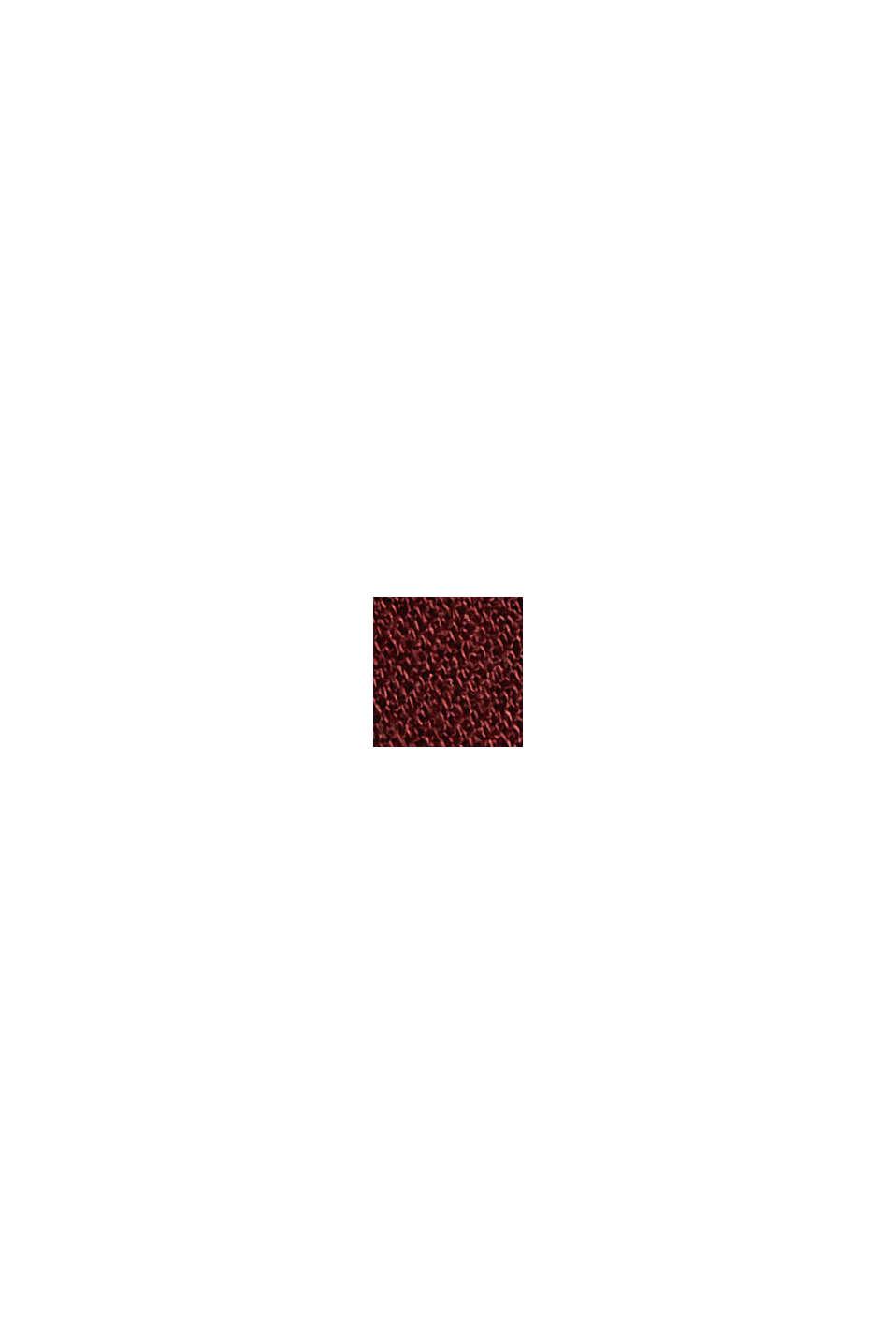 Volantkleid aus LENZING™ ECOVERO™, GARNET RED, swatch