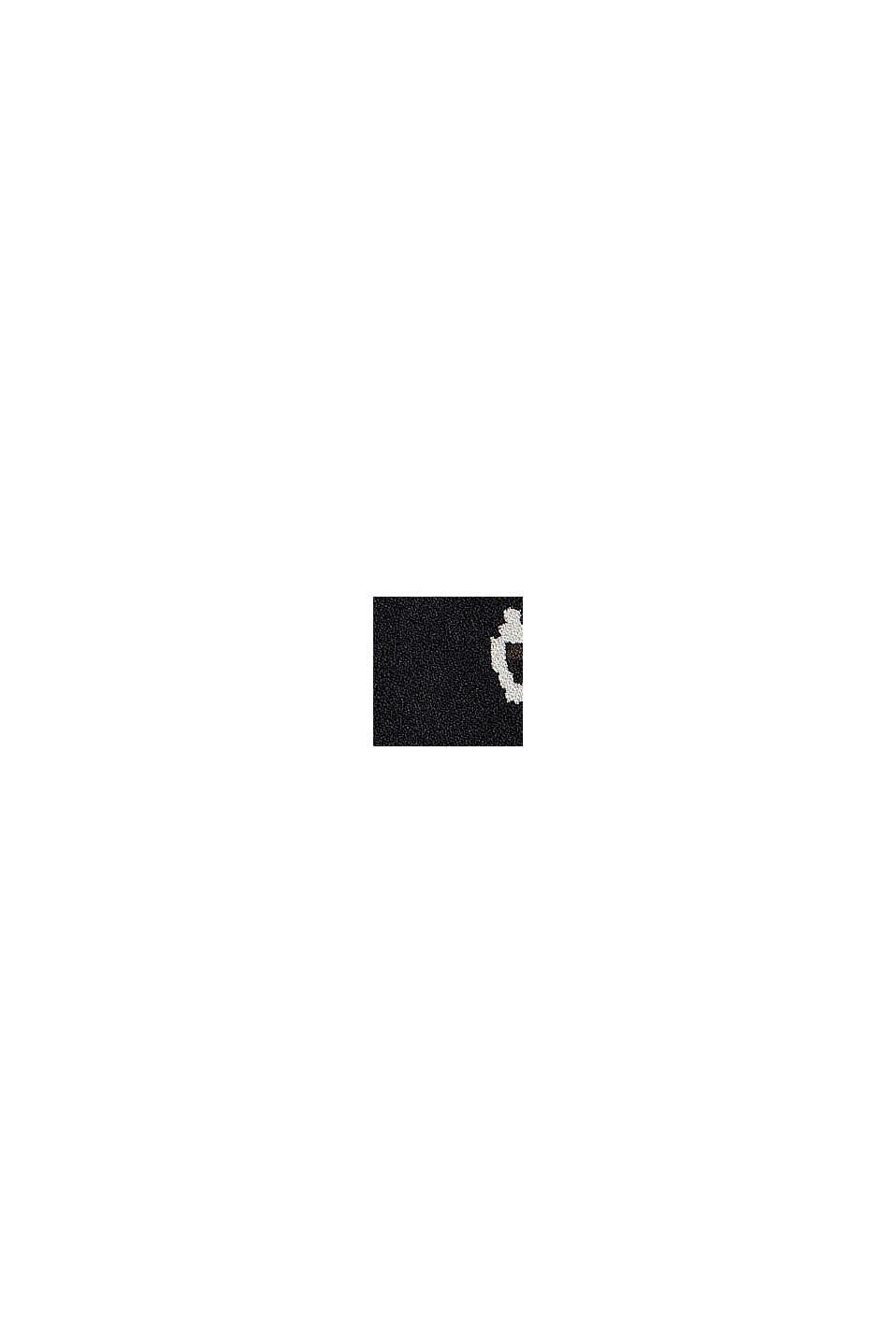 Vestido de volantes de LENZING™ ECOVERO™ con estampado, BLACK, swatch