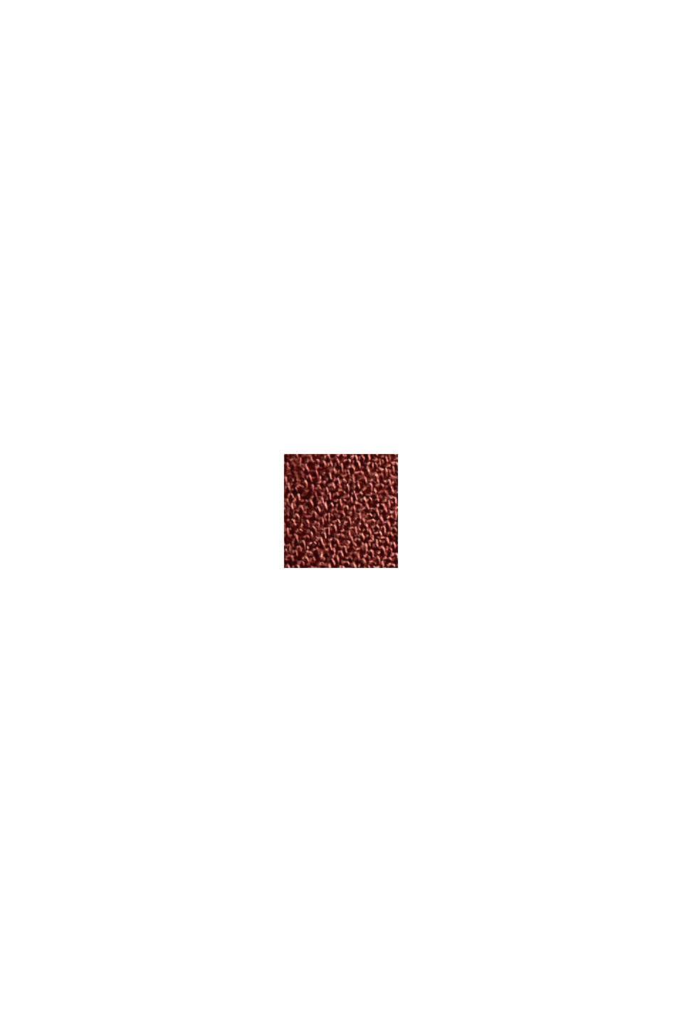 Gemustertes Volantkleid aus LENZING™ ECOVERO™, GARNET RED, swatch