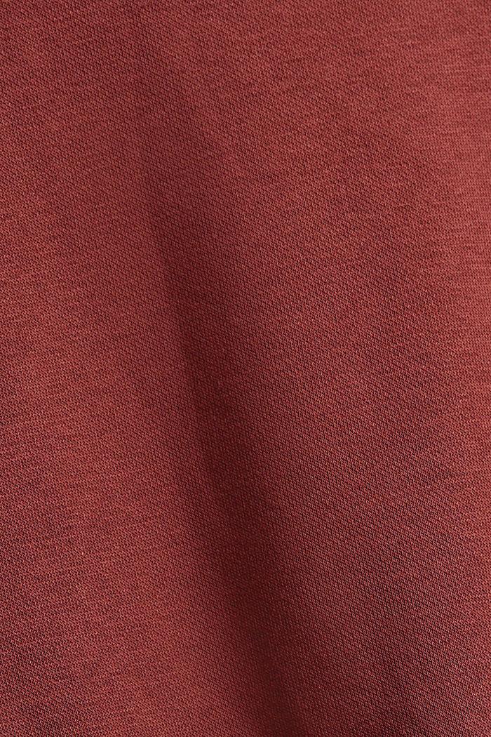 Minikleid aus Material-Mix mit Organic Cotton, GARNET RED, detail image number 4