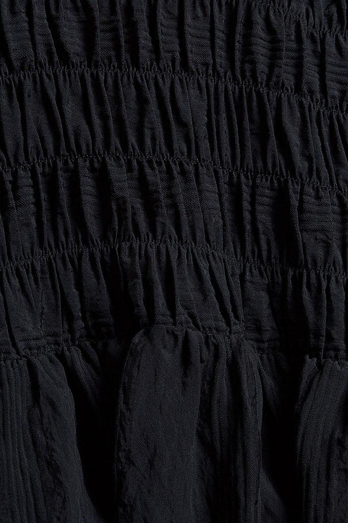 Blouse met rimpelingen, LENZING™ ECOVERO™, BLACK, detail image number 4