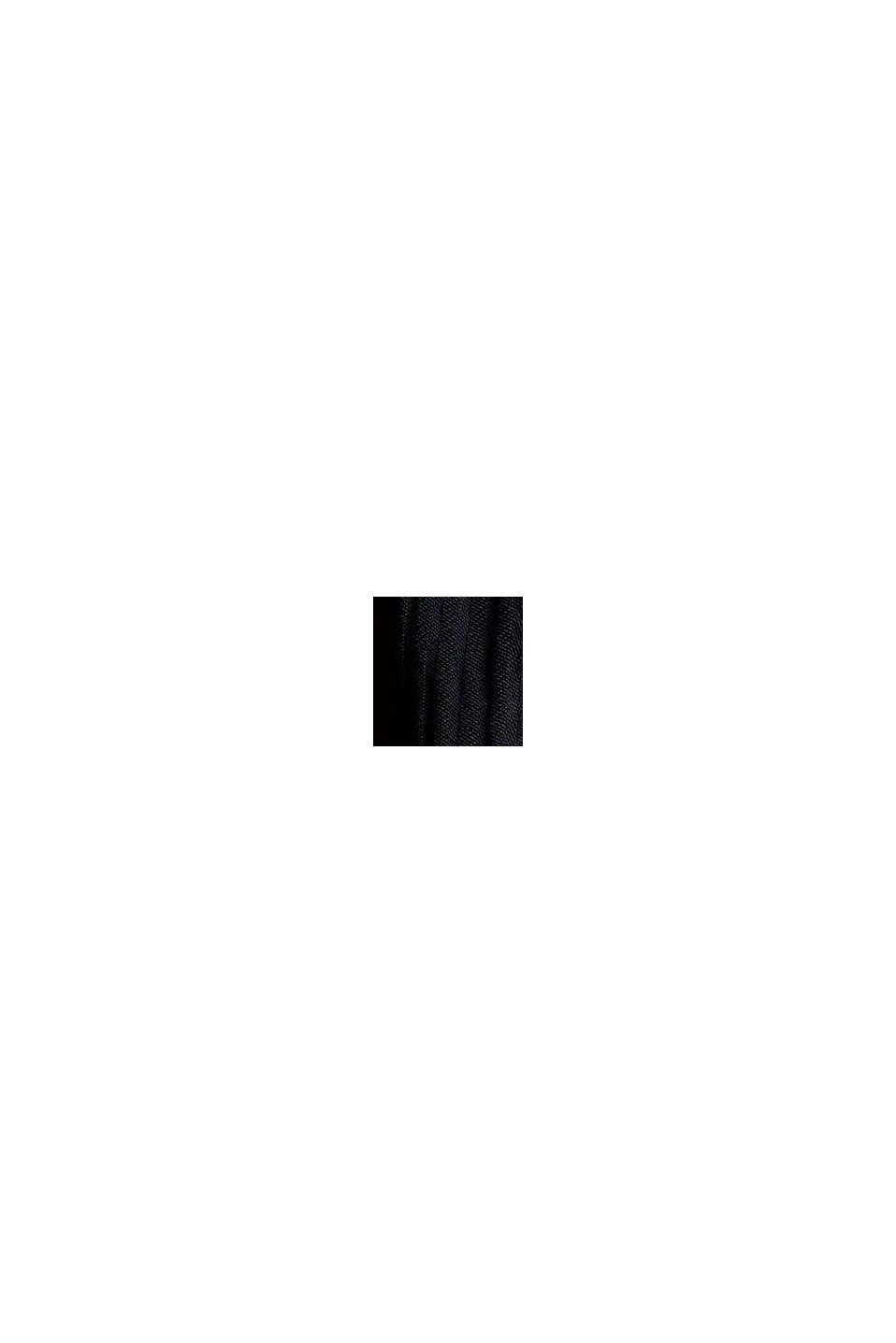 Bluse mit Raffungen, LENZING™ ECOVERO™, BLACK, swatch