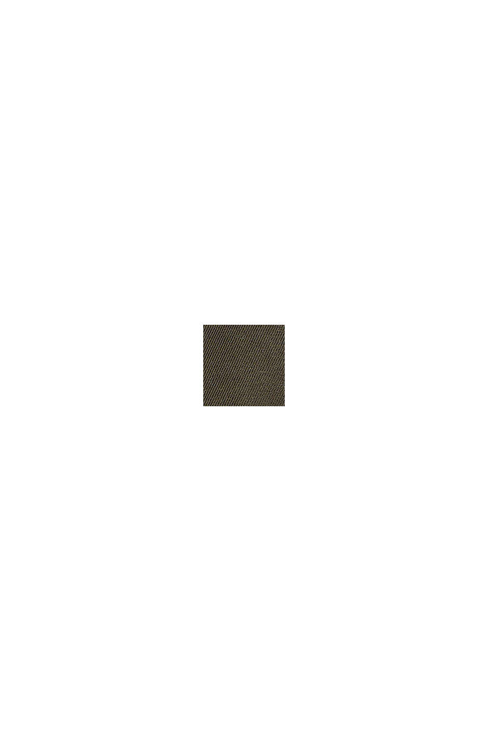 Återvunnet material: vadderad jacka i utility-look, DARK KHAKI, swatch