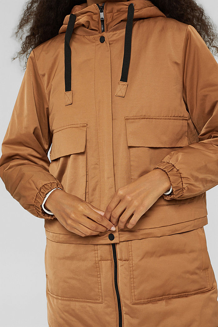 3-in-1 variabler Mantel aus Baumwoll-Mix, BARK, detail image number 2