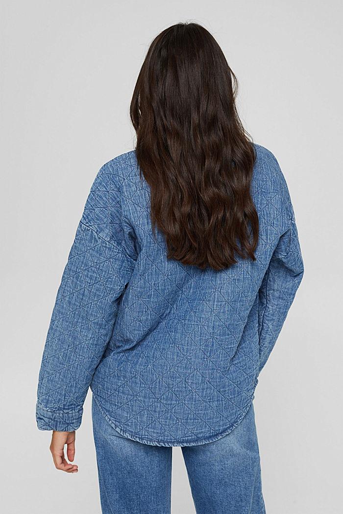 Shacket rembourrée d'aspect jean, BLUE MEDIUM WASHED, detail image number 3