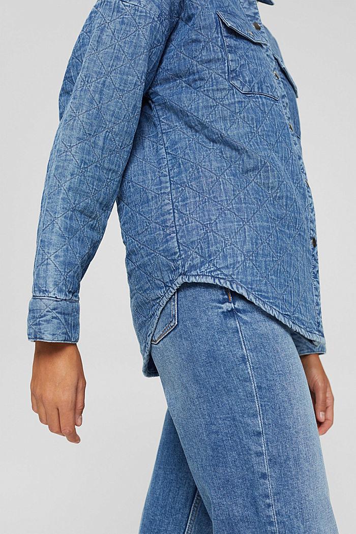 Shacket rembourrée d'aspect jean, BLUE MEDIUM WASHED, detail image number 2