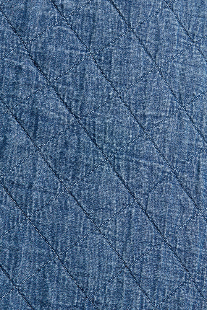 Shacket rembourrée d'aspect jean, BLUE MEDIUM WASHED, detail image number 4