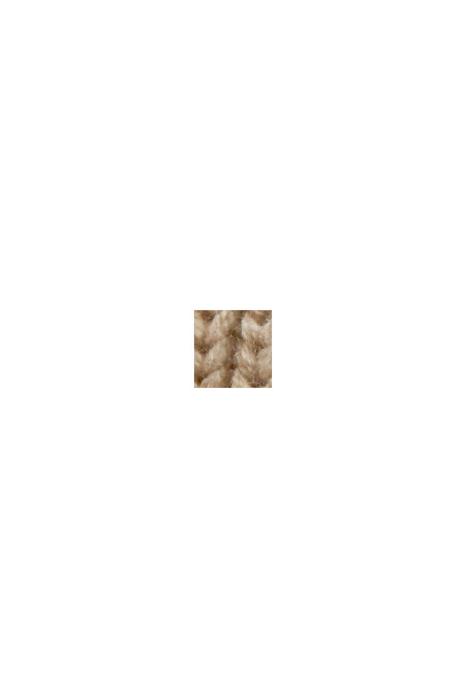 Polo neck sleeveless jumper with side ties, BEIGE, swatch