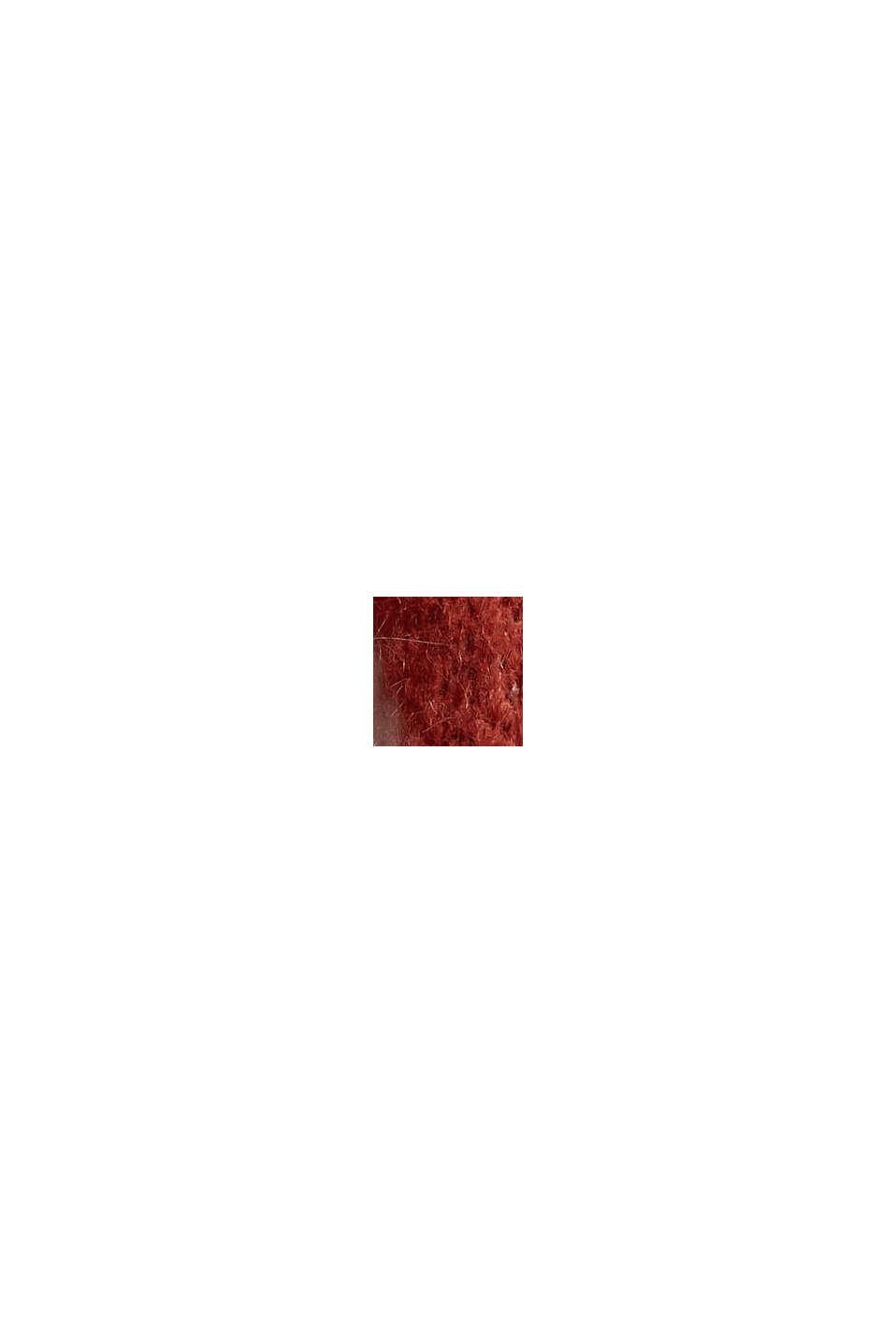 Mit Wolle/Alpaka: Stehkragen-Pullover, GARNET RED, swatch