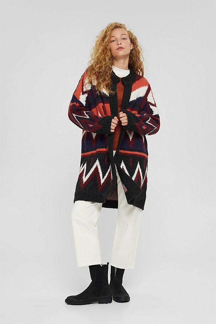 Con lana e alpaca: cardigan lungo