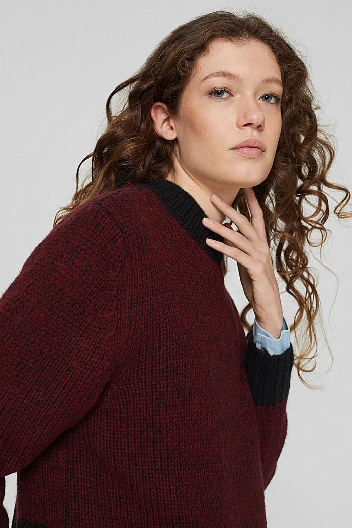 Con lana: jersey bicolor