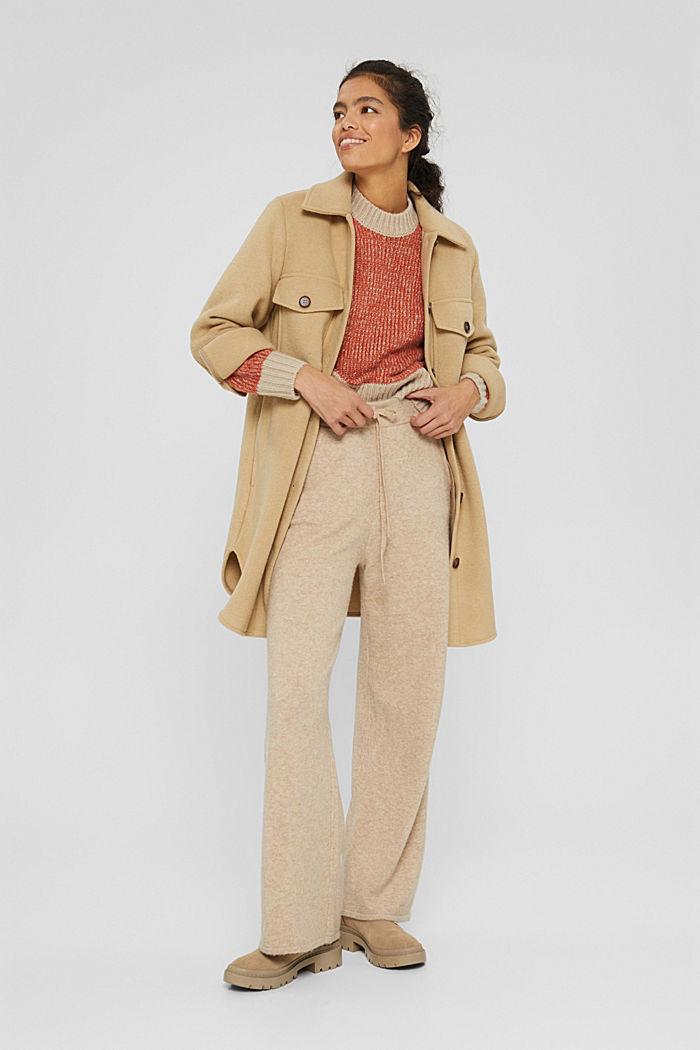 Mit Wolle: zweifarbiger Pullover, GOLDEN ORANGE, detail image number 1