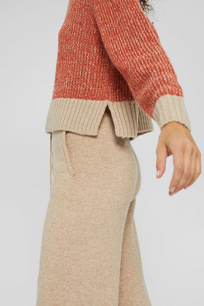 Mit Wolle: zweifarbiger Pullover, GOLDEN ORANGE, detail image number 2
