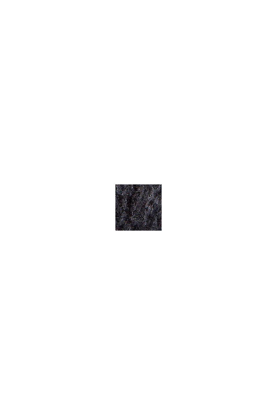 Mit Wolle: Pullover aus Lochmusterstrick, BLACK, swatch