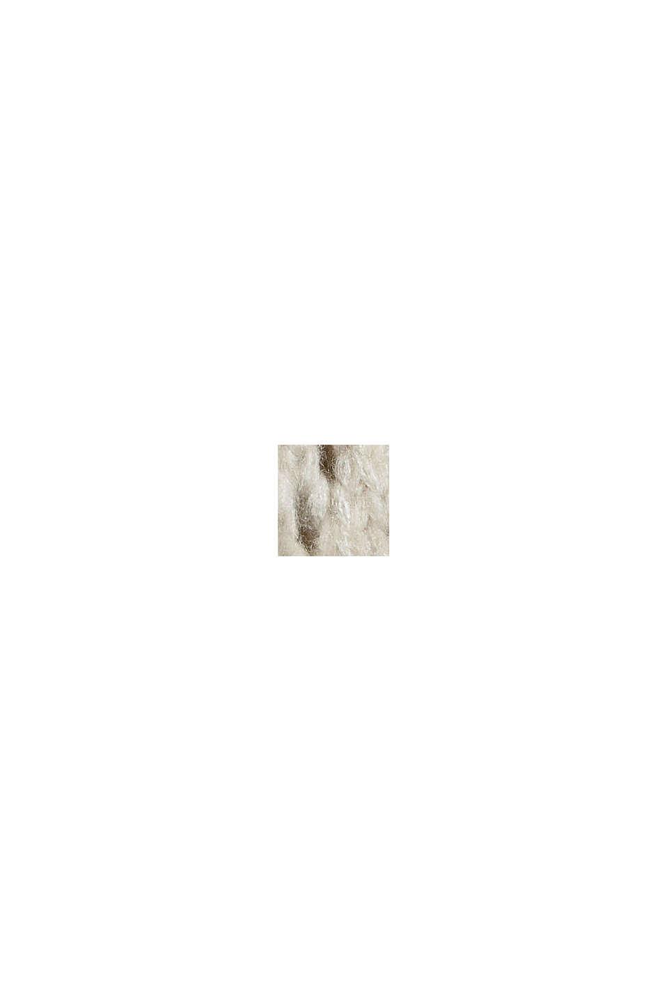 Mit Wolle: Pullover aus Lochmusterstrick, BEIGE, swatch