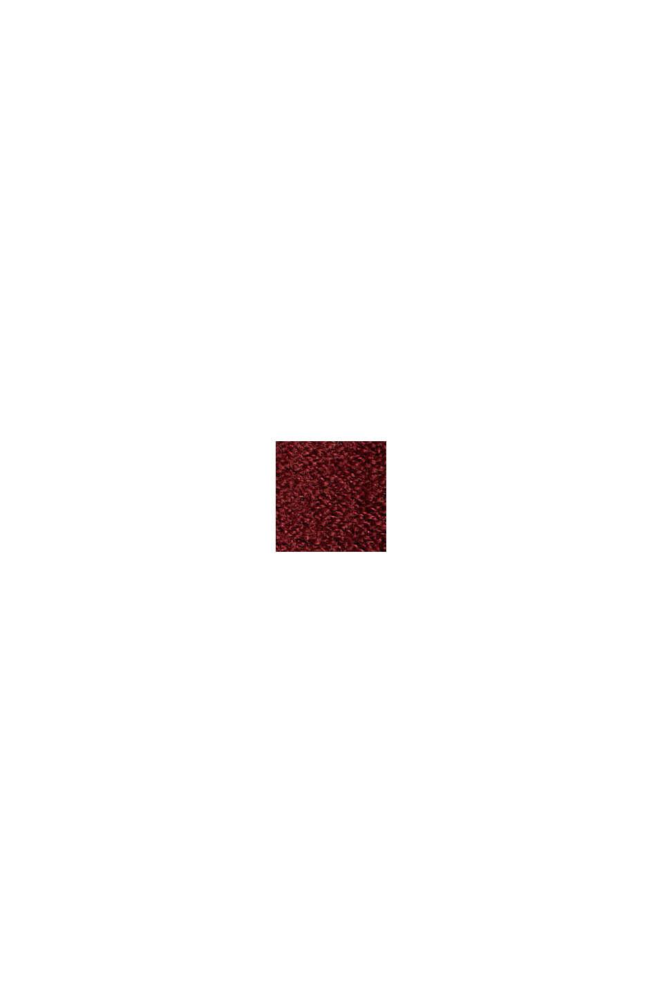 Mit Wolle: Pullover mit Stehkragen, GARNET RED, swatch