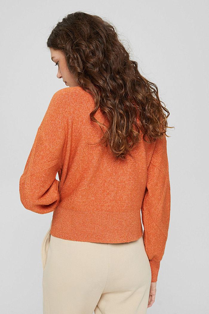 Mit Wolle: Pullover mit Stehkragen, GOLDEN ORANGE, detail image number 3