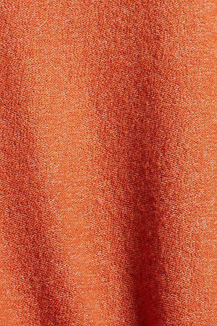 Mit Wolle: Pullover mit Stehkragen, GOLDEN ORANGE, detail image number 4