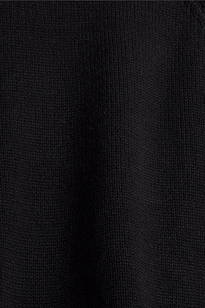 Coltrui van een mix van biologisch katoen, BLACK, detail image number 4