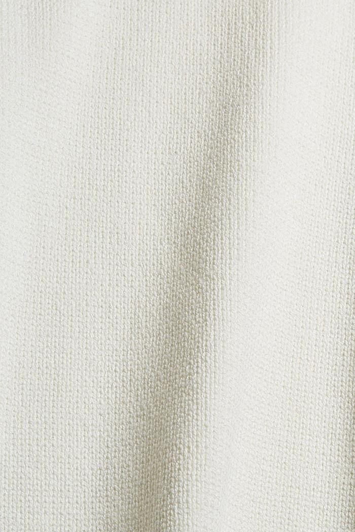 Pull-over à col roulé en coton biologique mélangé, OFF WHITE, detail image number 4