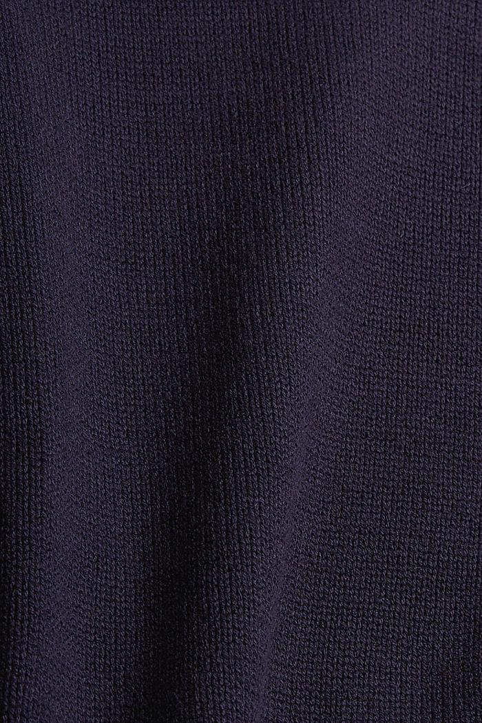Pull-over à col roulé en coton biologique mélangé, NAVY, detail image number 4