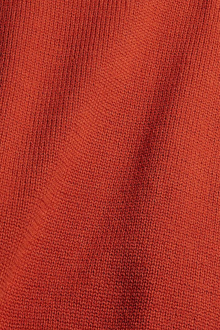 Rollkragen-Pullover aus Bio-Baumwoll-Mix, GOLDEN ORANGE, detail image number 4