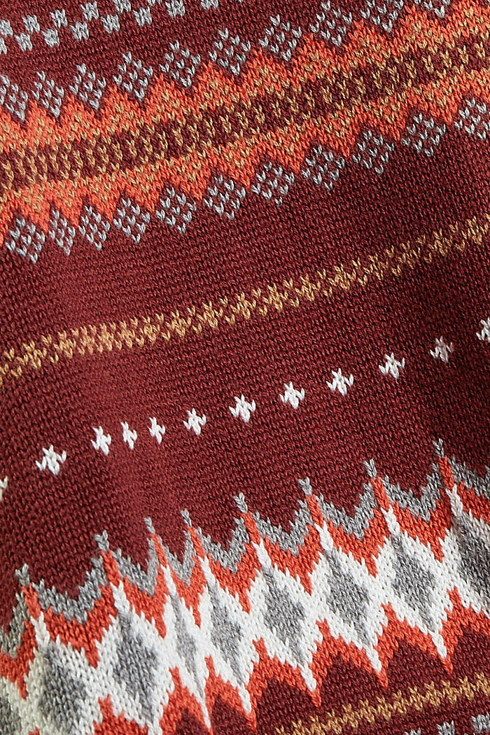 Sweaters, GARNET RED, detail image number 4