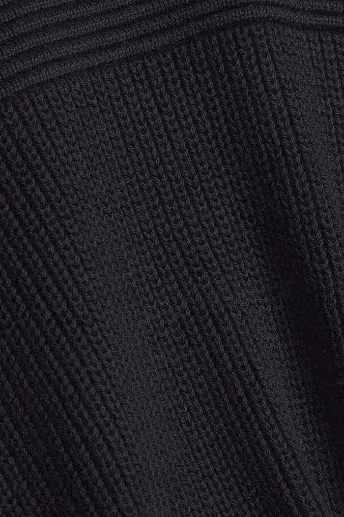 Trui met ronde hals van een katoenmix, BLACK, detail image number 4