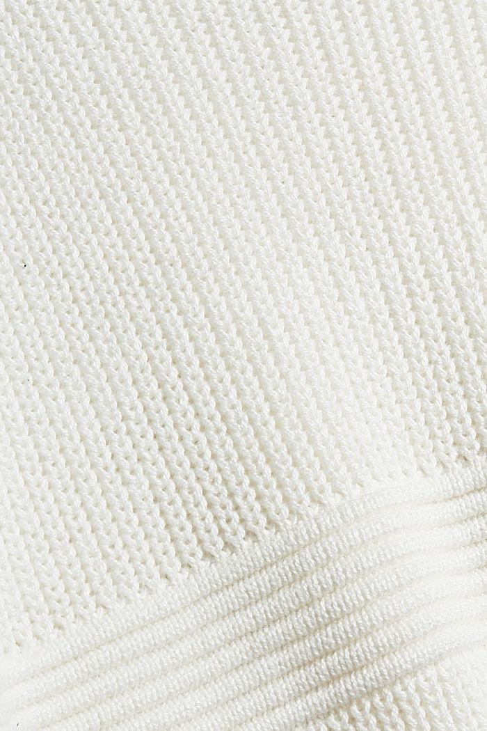 Trui met ronde hals van een katoenmix, OFF WHITE, detail image number 4