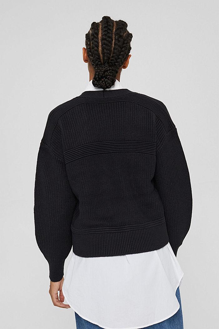 Fashion Cardigan, BLACK, detail image number 3