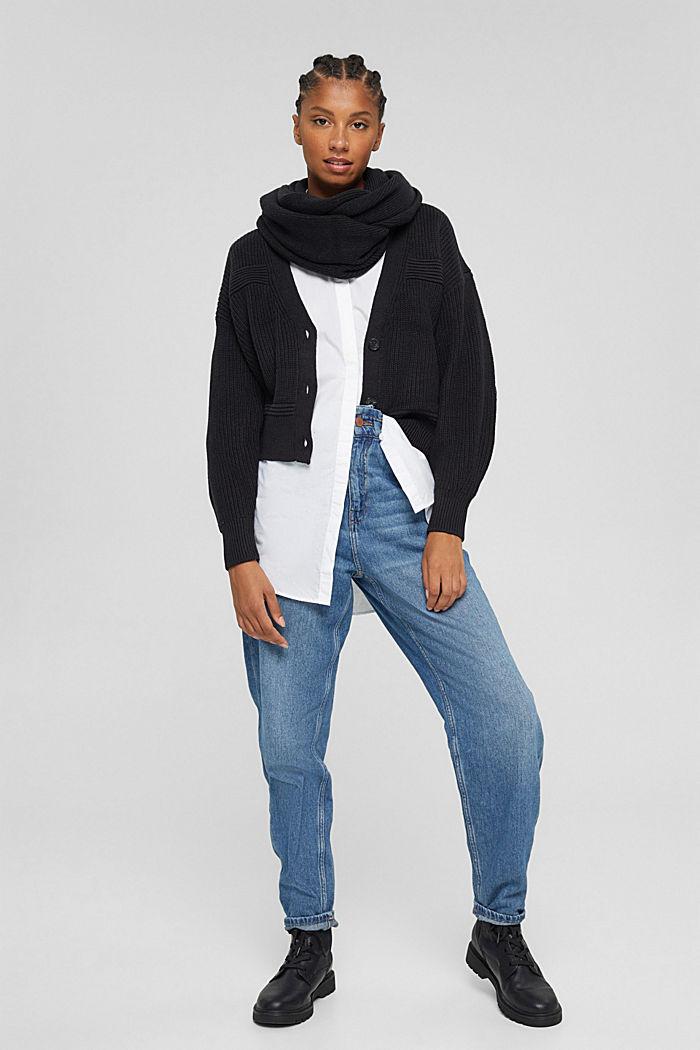 Fashion Cardigan, BLACK, detail image number 1