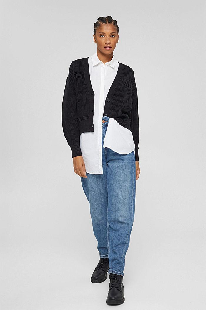 Fashion Cardigan, BLACK, detail image number 5